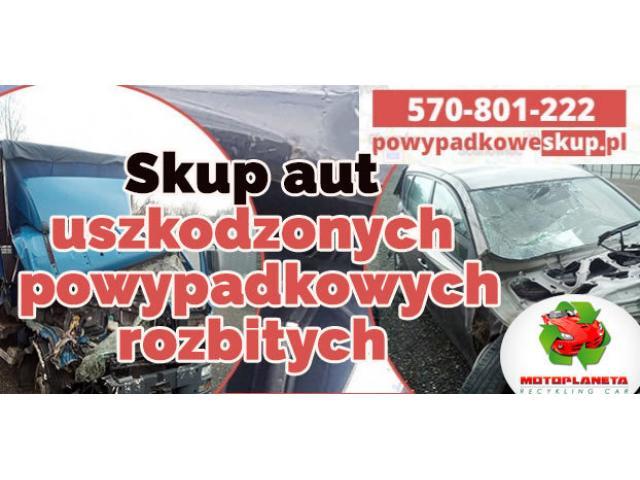 Skup aut uszkodzonych , skup samochodów powypadkowych, samochodów rozbitych Gotówka od ręki